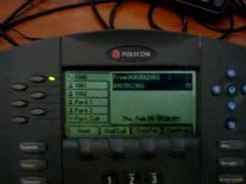 Aloha Tone PBX Park and Page on Polycom Soundpoint IP601