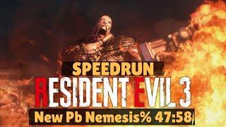 Resident Evil 3 Nemesis / Speedrun Nemesis% Nuevo PB 47:58 caen Los Nemesis