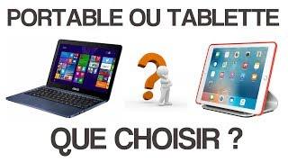 Tablette ou ordinateur portable ? Que choisir quand on débute ?