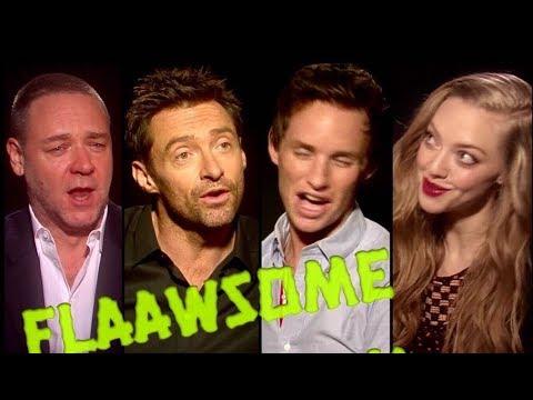 Awkward singing interview with Eddie Redmayne, Russel Crowe, Hugh Jackman and Amanda Seyfried
