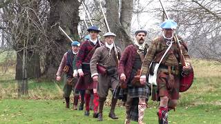 Jacobites and Redcoats at Castle Fraser in Aberdeenshire during 1st training camp of 2019