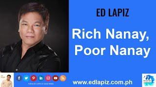 🆕  Ed Lapiz - Rich Nanay Poor Nanay  👉 Latest Sermon New Video👉 Ed Lapiz Official Channel 2020 👉