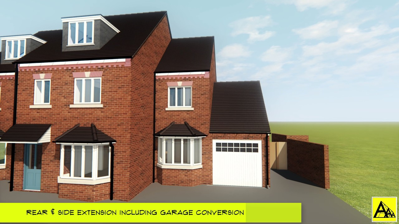 Rear Side Extension Extension Including Garage Conversion