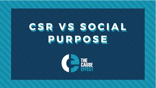 CSR vs Social Purpose