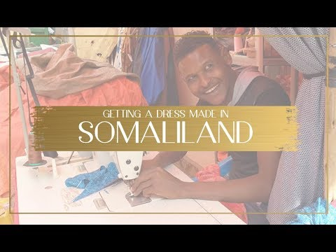 Getting a traditional dress made in Somaliland