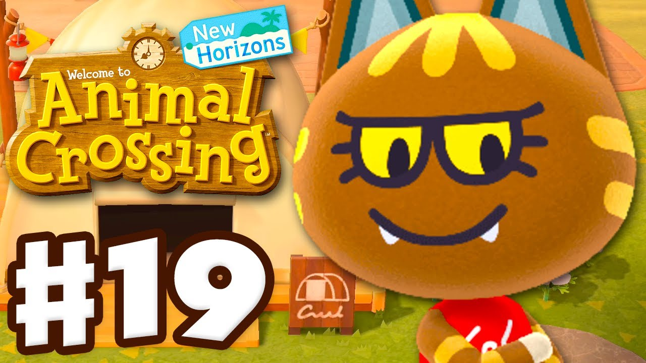 Katt Visits the Campsite! - Animal Crossing: New Horizons - Gameplay Walkthrough Part 19