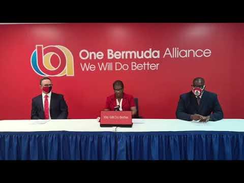 One Bermuda Alliance Press Conference, Sept 25 2020