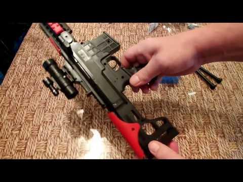 Снайперская винтовка стреляющия орбизами. Посылка для детей