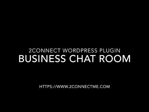 2ConnectMe WordPress Plugin - Business Chat Room