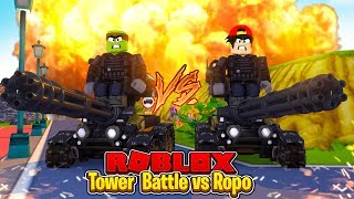 TOWER BATTLES - ROPO CHALLENGES TINY TURTLE TO THE ULTIMATE BATTLE!