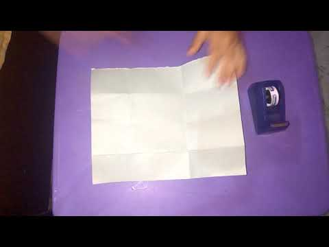 How to make a mini paper violet