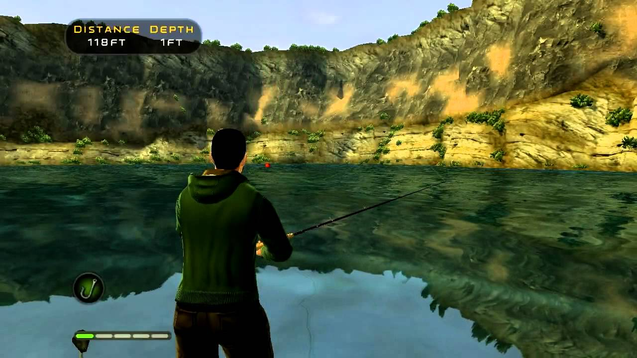 Bass pro shops the strike hd gameplay youtube for Bass pro shop fishing games