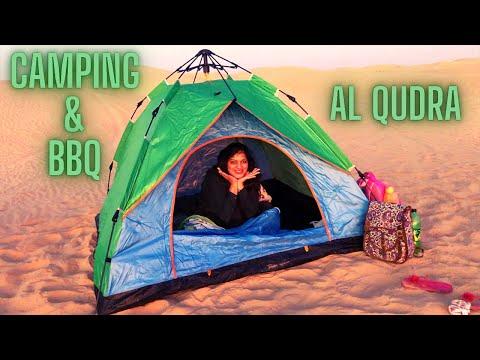 CAMPING IN DUBAI || DESERT CAMPING & BBQ IN UAE || AL QUDRA CAMPING || OVER NIGHT DESERT CAMPING ||
