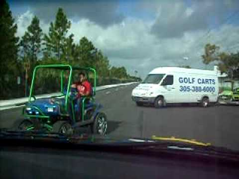 Posse Rolling To The Races - Custom Golf Cart King Pin - Dade Equipment