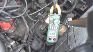 Пусковой ток стартера автомобиля - холодный двигатель