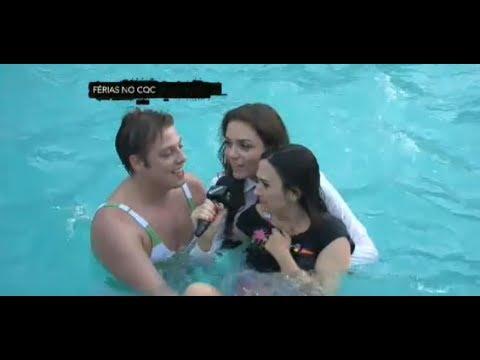 Monica Iozzi cai na água com Fábio Porchat e Tatá Werneck - CQC - 29/07/2013