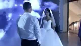 رقص العروس والعريس على اغنية سمعني نبضك
