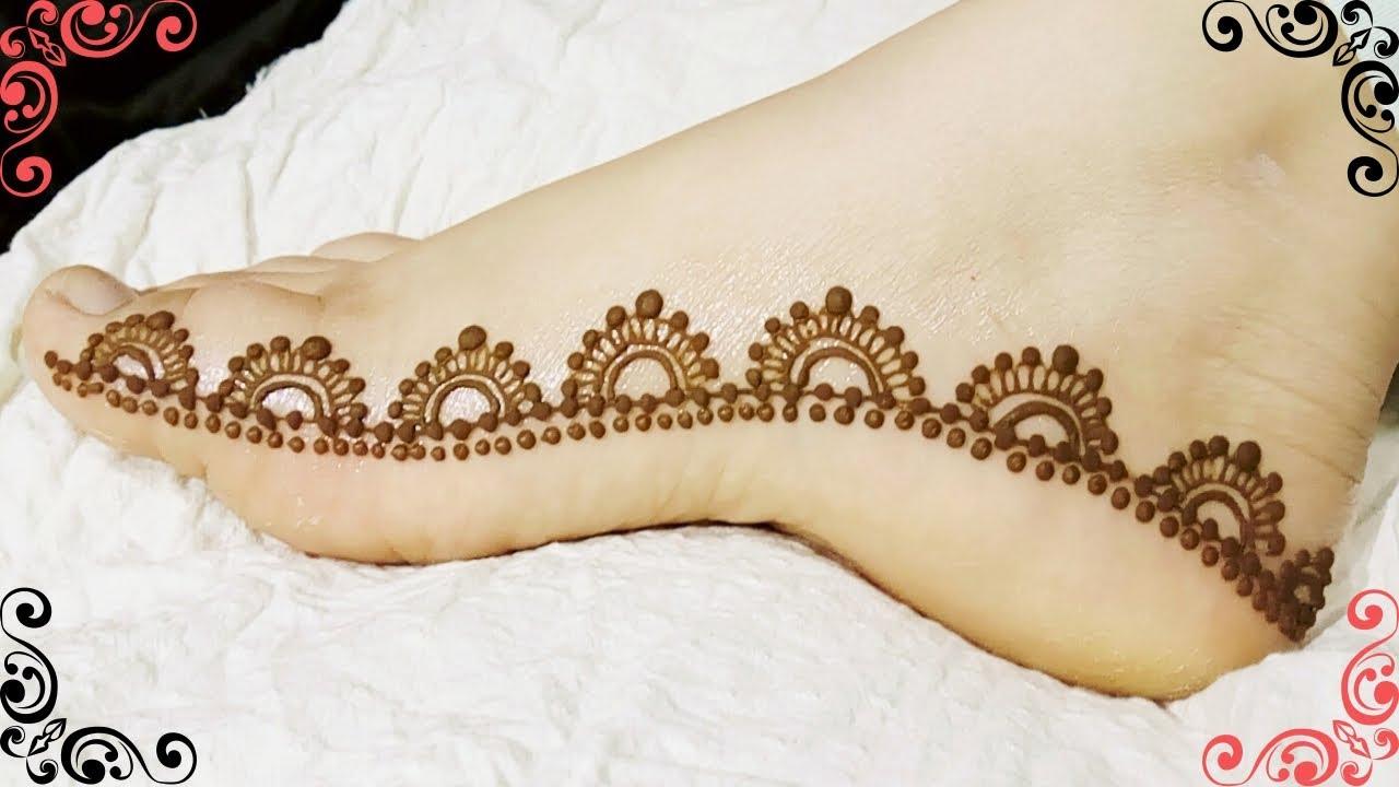 mehndi design for leg side