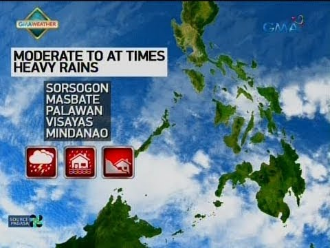24 Oras: Weather update as of 6:13 p.m. (January 14, 2018)