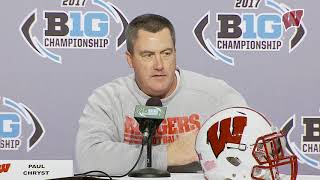 Chryst Pre-Big Ten Championship  Press Conference