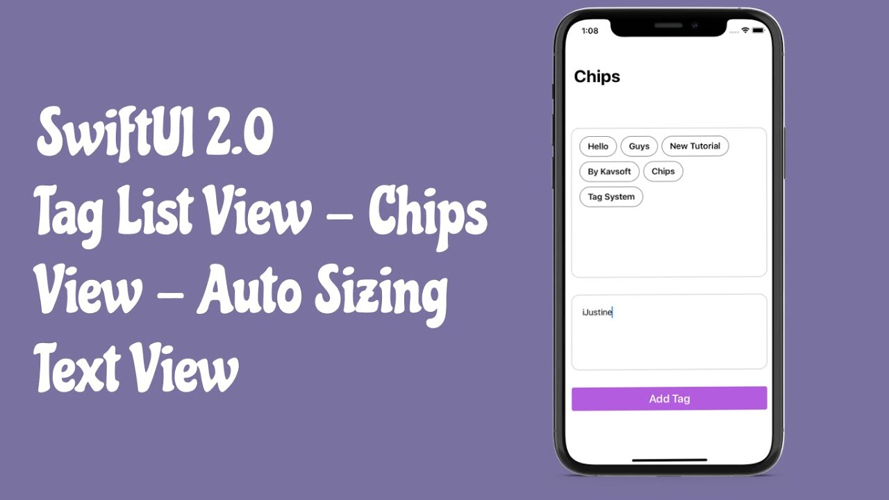 SwiftUI 2.0 Tag List View - SwiftUI Chips View - Custom Tag View
