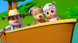 Row row row your boat | Nursery rhymes collection | Kids songs | 3d Baby ursery rhyme