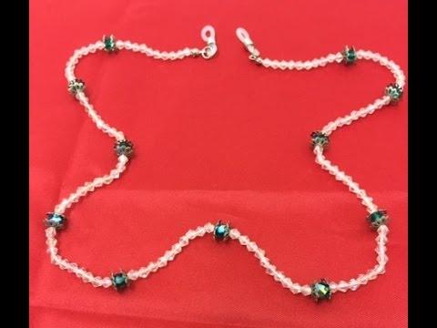 21d4df1812 Como hacer un cordon para sujetar las Gafas - How to make a cord to hold  the glasses