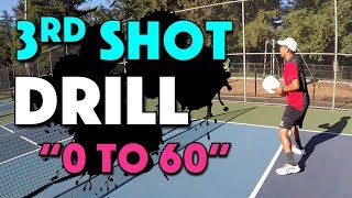 "Pickleball 3rd Shot Drill | ""0 to 60"" Drill"