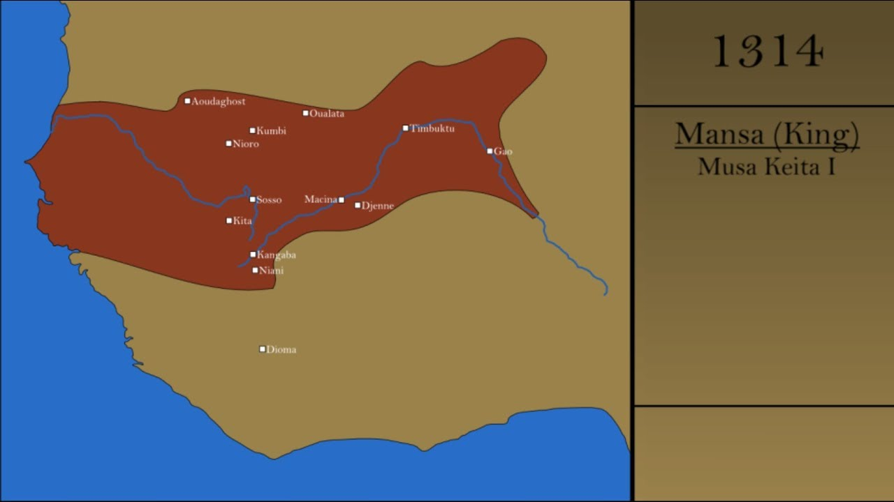 The History of the Mali Empire - YouTube on map of mali kingdom, map of ghana kingdom, map of axum kingdom, map of benin kingdom, map of kongo kingdom, map of khmer kingdom, map of persian kingdom, map of kazakh kingdom, map of aztec kingdom, map of kush kingdom, map of armenian kingdom, map of hebrew kingdom, map of tamil kingdom,