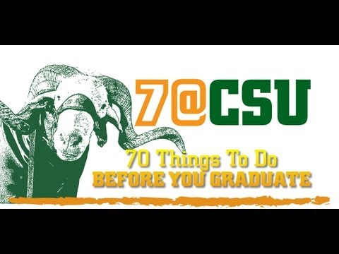 70 Things To Do Before You Graduate from CSU Video Contest