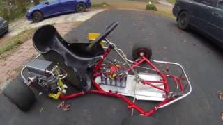 First Test Drive of Electric Go Kart Build Part 9