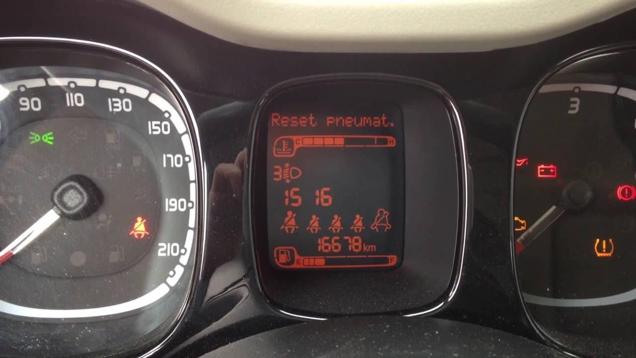 Fiat Panda Reset Tire Pressure Pneumatici Tpms Youtube