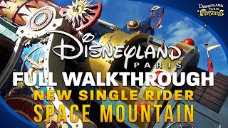 Disneyland Paris SPACE MOUNTAIN: New Single Rider Entrance Full Walkthrough - HD Video / 1080p 50(DISNEYLAND PARIS SPACE MOUNTAIN: Full POV walkthrough of the brand new Single Rider entrance. Walk through the freshly refurbished area and have a ..., 2015-07-26T10:58:05.000Z)