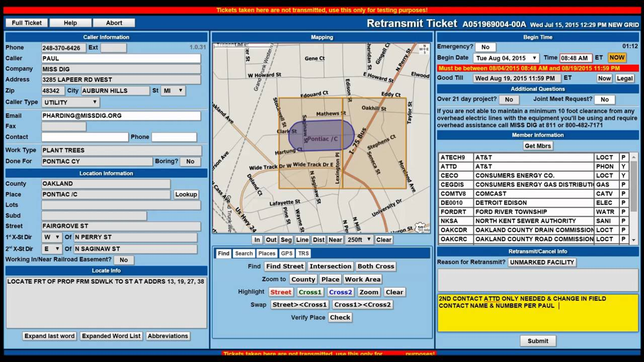 Remote Ticket Entry Miss Dig System Inc This tool collects information, from utility owners, as to the locating status of a ticket. remote ticket entry miss dig system inc