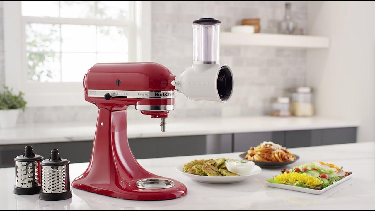 KitchenAid® Fresh Prep Slicer & Shredder Attachment - YouTube