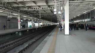 仙台駅新幹線ホーム はやぶさ到着