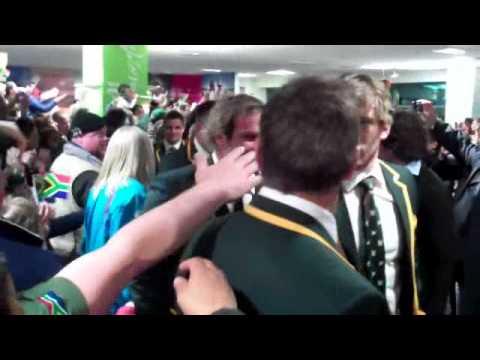 The Springbok Arrival In Wellington, NZ, RWC 2011