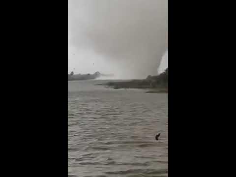 Impactante video del tifón que azotó el sureste de Irak
