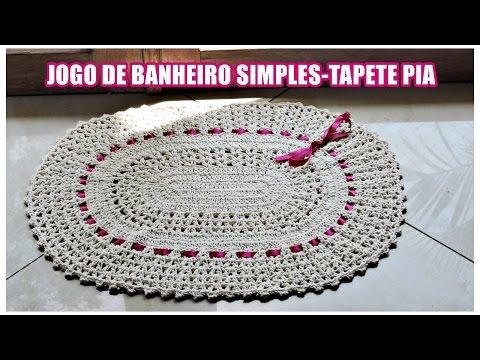 JOGO DE BANHEIRO SIMPLES -TAPETE PIA/ DIANE GONÇALVES