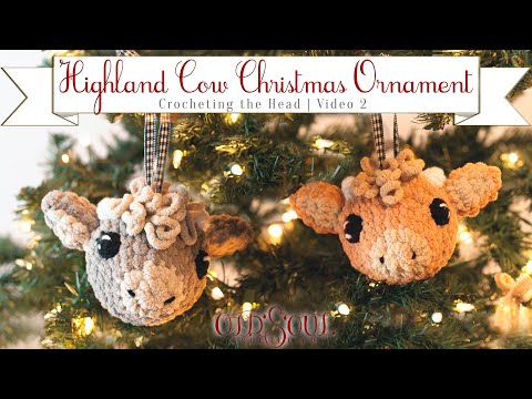 Amigurumi Highland Cow Ornament! | Video 2