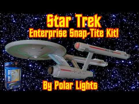 Polar Lights Star Trek Enterprise Snap Tite model kit!