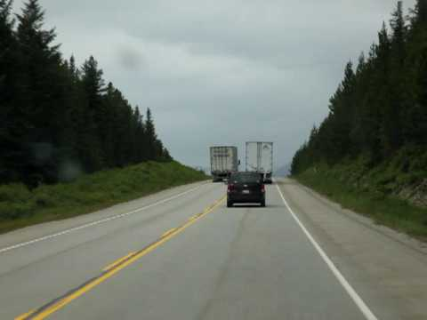 Crazy Driver For Trans-X Ltd On BC Highways