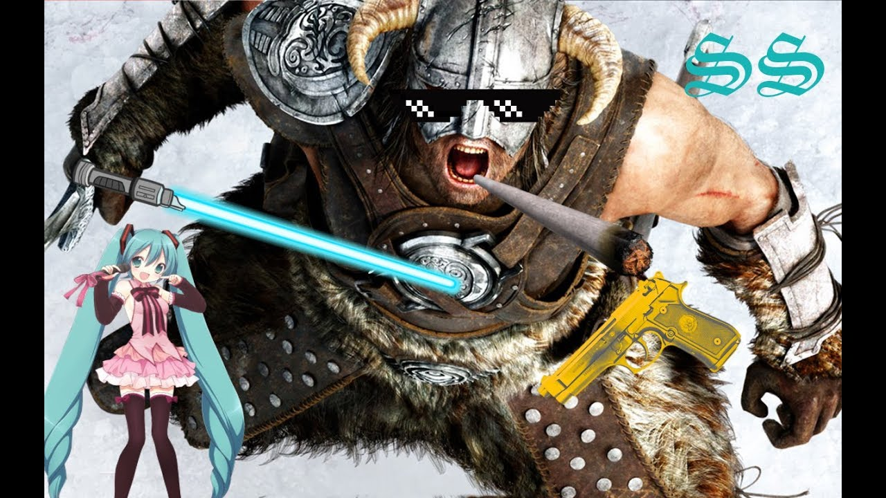 Nothing Is Unlorefriendly In Skyrim Lightsabers Anime Girls And Guns Are Cannon