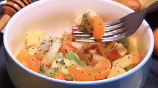 Необычный рецепт фруктового салата | Фруктовый салат с заправкой из масла