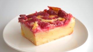 Клафути с клубникой. Популярный французский десерт из доступных ингредиентов