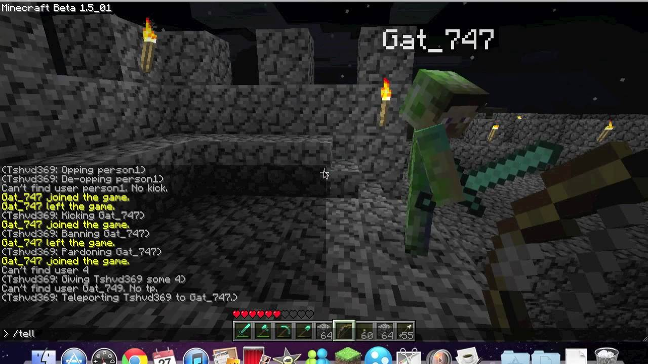 Minecraft Multiplayer Commands YouTube - Minecraft teleport player to