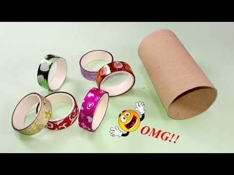 Waste material reuse idea | Best out of waste | DIY arts and crafts | recycling tissue roll