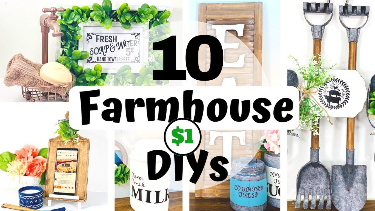 10 Farmhouse DIYs | Farmhouse Home Decor DIY | Dollar Tree DIY | High End Farmhouse Decor Ideas 2020