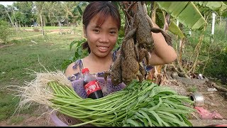 Amazing Cute Girl Cooking Frog With Coca Cola - How To Cook Frog In ...