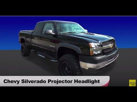 2003-2007 Chevy Chevrolet Silverado LED Halo Projector Headlights